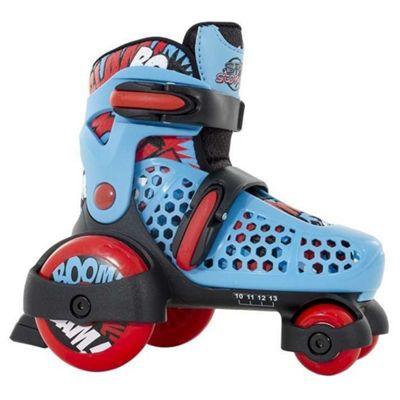 SFR Stomper Quad Skates Blue, Black and Red Size UK 10J - 13J