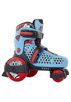 SFR Stomper Adjustable Junior Boy's Skates - Blue/Red - Blue & Red