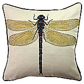 McAlister Printed Dragonfly Cushion - Woven Jacquard