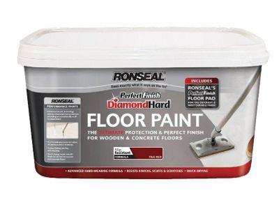 Ronseal DHPFFPW25 2.5L Diamond Hard Perfect Finish Floor Paint - White