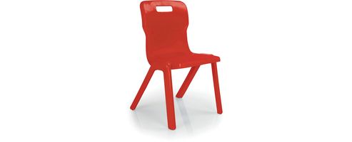 Titan One Piece School Chair Size 6 Red KF72174