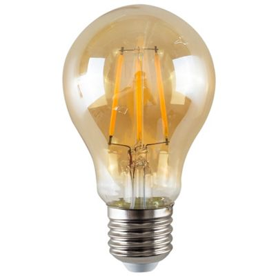 Vintage 4W LED Filament Amber GLS Lightbulb ES E27 - Warm White