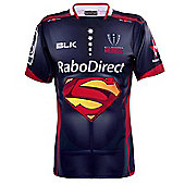 """BLK Sport Melbourne Rebels Super Rugby Limited Edition Marvel Superman"""" Jersey"""" - Blue"""