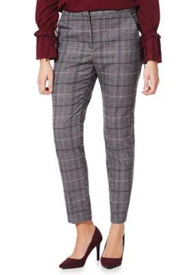 Vero Moda Checked Ankle Grazer Trousers XS Grey