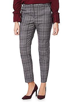 Vero Moda Checked Ankle Grazer Trousers - Grey