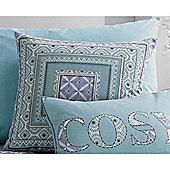 Dreams n Drapes Kalisha Cushion Cover - Blue 43x43cm