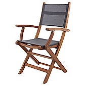 Kingsbury Mesh and Wood Folding Garden Armchair, 2 Pack