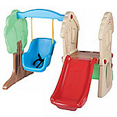 Little Tikes Whimsical Clubhouse Climber Slide and Swing