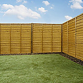 Mercia Waney Edge Lap Fence Panel 6ft Dipped