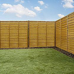 Mercia Waney Edge Lap Fence Panel 6ft Dipped