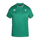 Canterbury Ireland Rugby Cotton Training Polo 16/17 - Green - Green