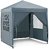 VonHaus Pop Up Gazebo 2x2m - Outdoor Garden Marquee with Water-resistant Cover
