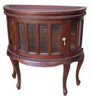 Lock stock and barrel Mahogany Demi Lune Tea Table in Mahogany