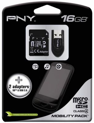 PNY 16GB MicroSDHC Mobility Pack