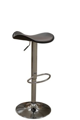 Saturn Brown Faux Leather Bar Stool