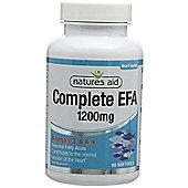 Natures Aid Complete EFA 1200mg(Essential Fatty Acids) - 90 Capsules