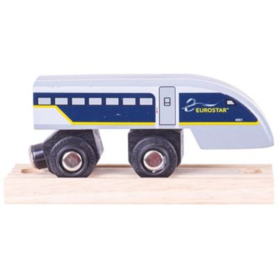 Bigjigs Rail Eurostar e320 Train End Carriage - Wooden Train Set Accessories