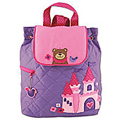 Children's Personalisable Quilted Backpack - Princess Bear