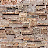 Muriva Slate Stone Wallpaper - Natural - J274-08
