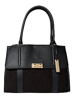 F&F Mixed Texture Triple Compartment Tote Bag
