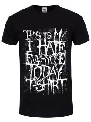 This Is My I Hate Everyone Today Men's Black T-shirt