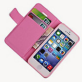 Pink Luxury PU Leather Wallet Case for Apple iPhone 5