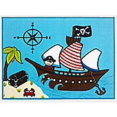 Pirate Ship Rug 80 x 110 cm