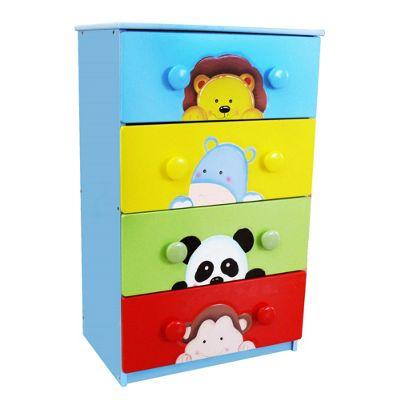 Fantasy Fields Sunny Safari 4 Drawer 8 Handle Cabinet