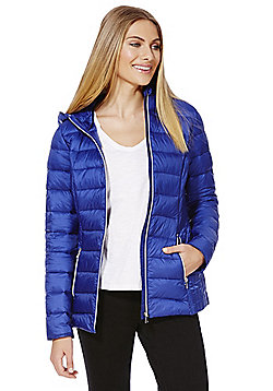 F&F Packable Downfill Padded Hooded Jacket - Royal blue