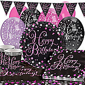 Pink Celebration Party Pack - Deluxe Pack for 16