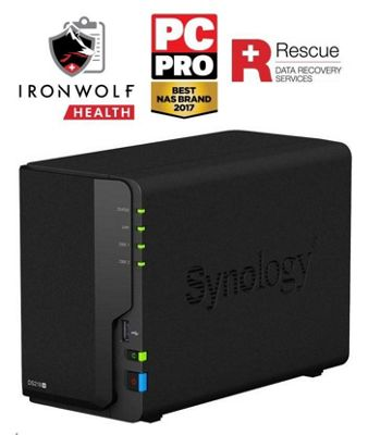 Synology DiskStation DS218+/8TB-IW Pro 2-Bay 8TB(2x4TB Seagate IronWolf Pro) all-around NAS storage solution
