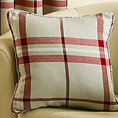 Homescapes Red Tartan Style Decorative Scatter Cushion