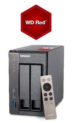 QNAP TS-251+-8G/6TB-RED 6TB(2x3TB WD RED) High-performance Intel quad-core NAS