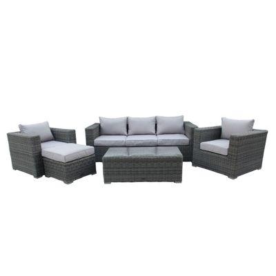 buy charles bentley wicker rattan 5 piece furniture set. Black Bedroom Furniture Sets. Home Design Ideas