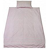 Saplings Cot Bed Quilt & Pillowcase Set - Pink Gingham