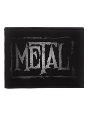 Metal Wallet Black 11x8.4x1.5cm