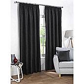 Rapport Sophia Pencil Pleat Blackout Curtains - Black