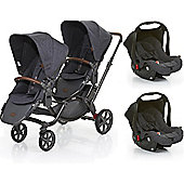 ABC Design 2017 Zoom Tandem & 2 Car Seats (Street)