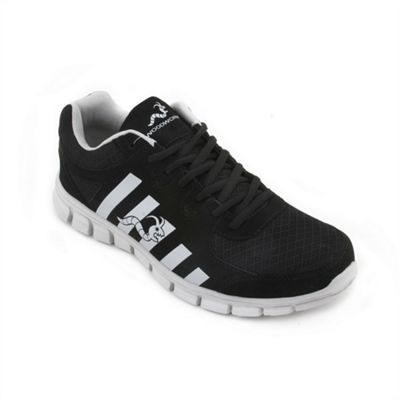 Woodworm Sports Ctg Mens Running Shoes / Trainers Black/Silver Size 6.5