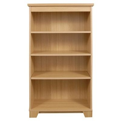 Caxton Sherwood Medium Open Bookcase in Natural Oak