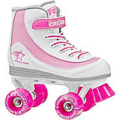 Roller Derby Trac Star Grey/Red Quad Roller Skates - White