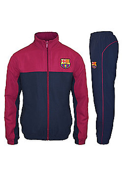 FC Barcelona Boys Tracksuit - Navy & Red