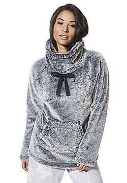 F&F Funnel Neck Cosy Lounge Top - Grey