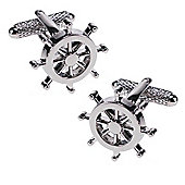 Ships Wheel Novelty Themed Cufflinks