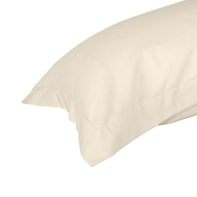Homescapes Cream Egyptian Cotton Oxford Pillowcase Luxury Pillow Cover 1000 TC