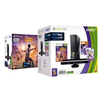 Tesco Exclusive Xbox 360 250GB Kinect Star Wars Bundle