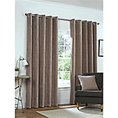 Rapport Yale Chenille Eyelet Curtains - Mink