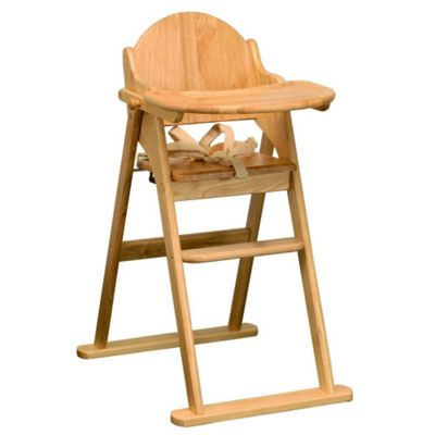 East Coast Wooden Folding Highchair - Natural