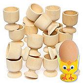 Easter Crafts Design A Wooden Egg Cup (Pack Of 6)