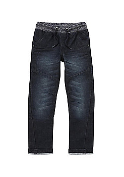 F&F Ribbed Waist Jeans - Dark wash